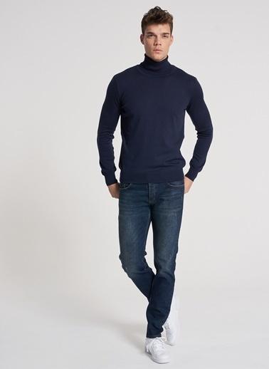 Pi π Slim Fit Jean Pantolon Mavi